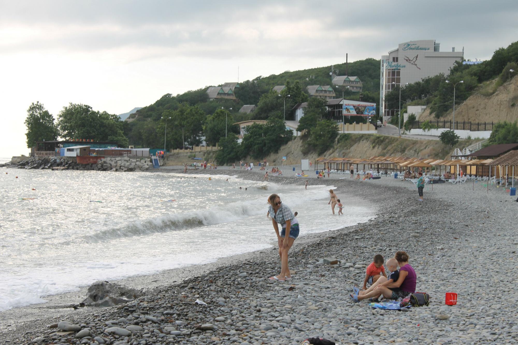 Пляж в новороссийске широкая балка фото