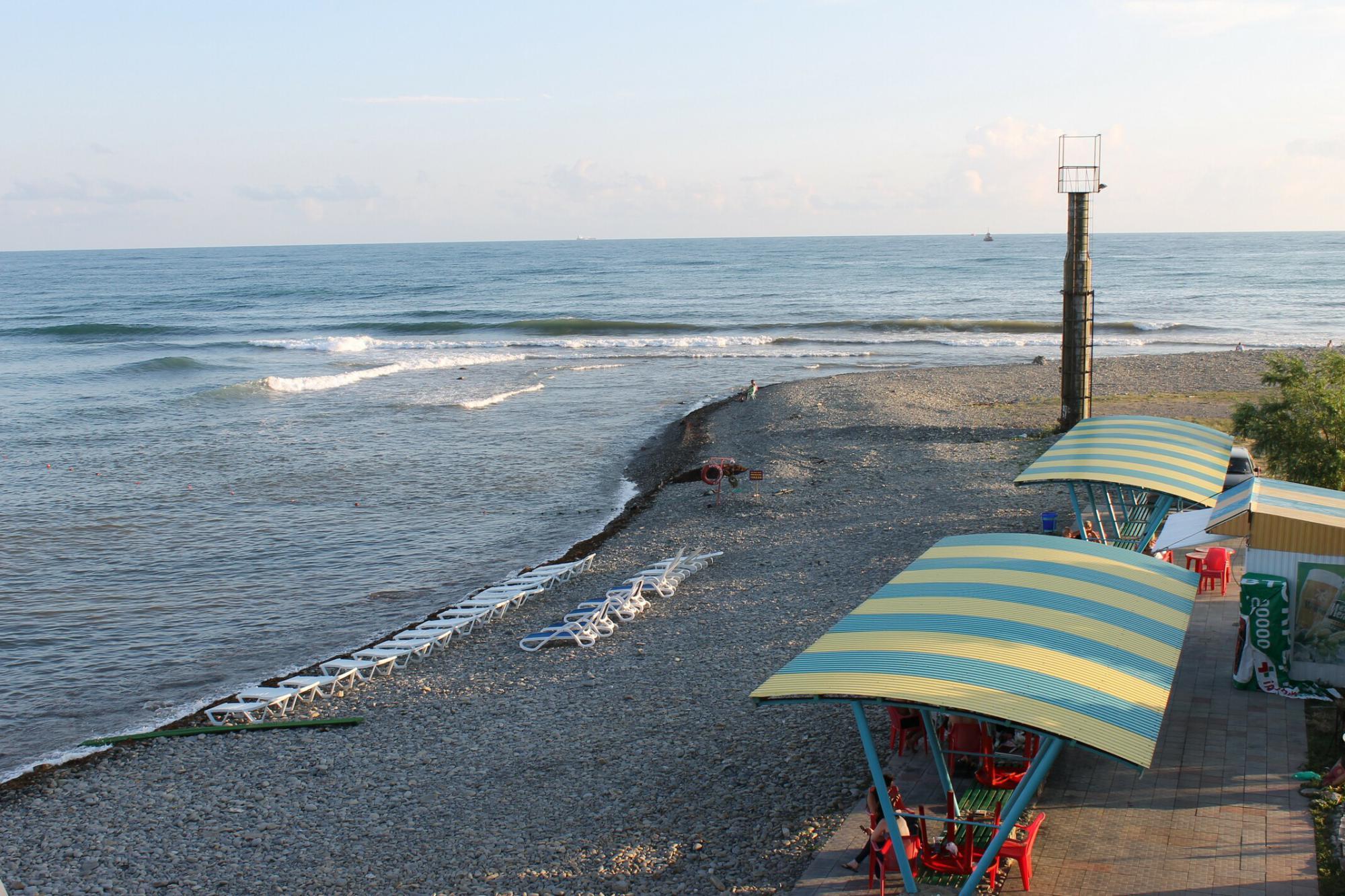 Новороссийск широкая балка пляж на