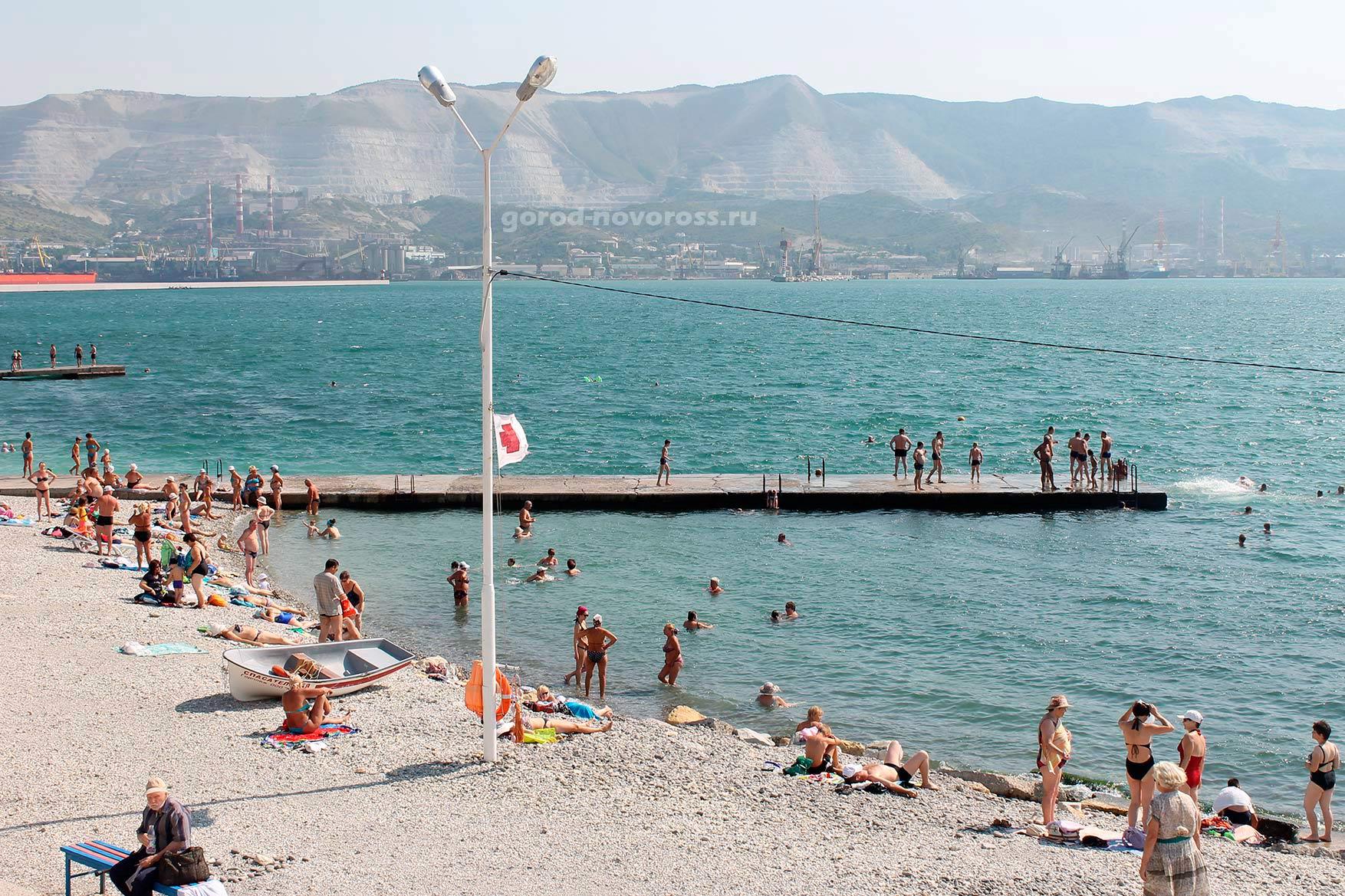 Городской пляж новороссийска фото